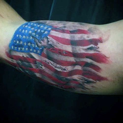 101 Best American Flag Tattoos Patriotic Designs Ideas 2020 Guide Flag Tattoo Tattoos For Guys American Flag Tattoo