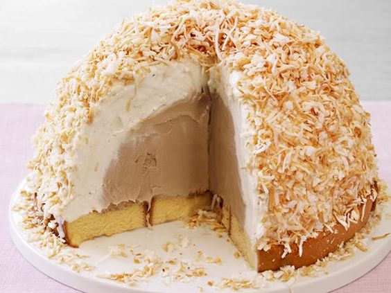 Coffee-Coconut Ice Cream Bombe from #FNMag #IceCreamCake #IceCreamBombe