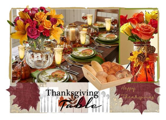 """""""Give Thanks II"""" by annbaker ❤ liked on Polyvore featuring interior, interiors, interior design, home, home decor, interior decorating, Sur La Table, Pier 1 Imports, Threshold and Versace"""