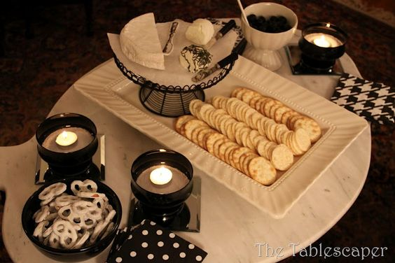 White parties and White chocolate covered pretzels on Pinterest