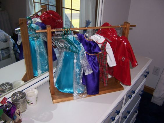 American Girl or 18 Doll Clothes Display and by SewNSupplyDisplays