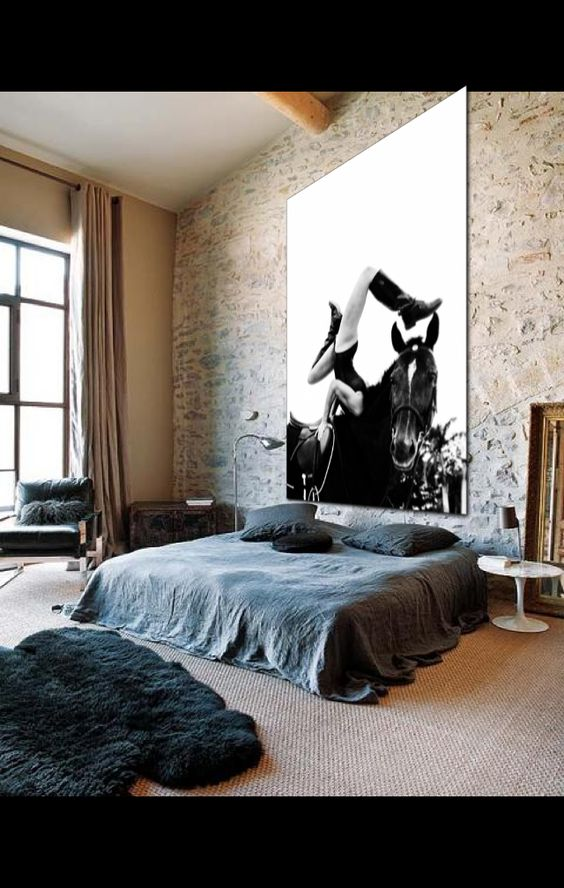 I think this would work for both of us, eh? Well, maybe not the horse pic. And I'm talking style-wise. I get my own room!
