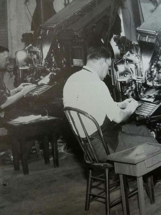 Sitting on wooden, bow-backed chair and typing in the latest news story on linotype for the Springfield Citizen's Tribune was not, in 1943, the most physically comfortable job.