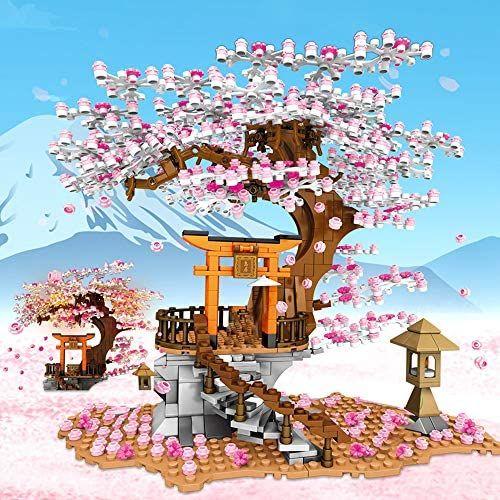 Amazon Com Newrice Sakura Tree House Lights Building Kit City Architecture Inari Shrine Building Blocks In 2021 Sakura Tree Cherry Blossom Tree Sakura Cherry Blossom