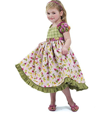 Gonna make this for an Easter dress...maybe some tulle underneath!