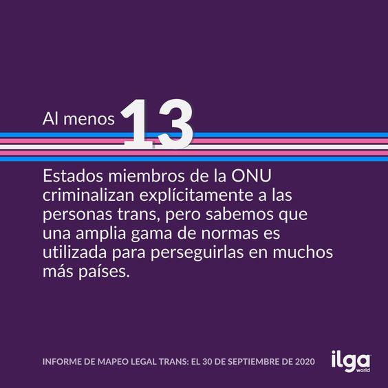 ILGA Mundo publica una nueva edición del Informe de 'Mapeo Legal Trans'