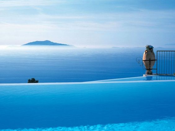 The pool of Hotel Caesar Augustus, Capri island, Italy