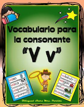 Vocabulario de la consonante V vContenido de este documento para la letra o…