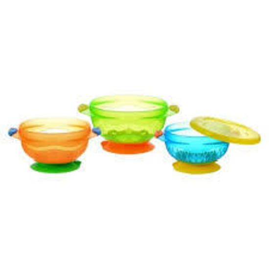 Munchkin - Stay-put Suction Bowls 3 pack
