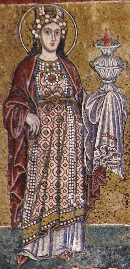 Rom, Santa Maria in Trastevere, Fassade, Mosaik aus dem 13. Jh. dans immagini sacre 1f722bc83c079e31e5b129d65c0b51bd