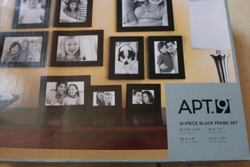 Apt 9 10 Piece Black Picture Frame Set Various Sizes Tabletop Or Wall Display In 2020 Frame Set Picture Frame Sets Frame