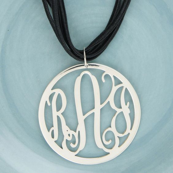 Beautiful Cut Out Monogram Pendant - perfect Mother's Day gift!