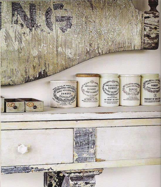 """dundee marmalade jars. [from country living book review on decorology """"aged to perfection""""]"""