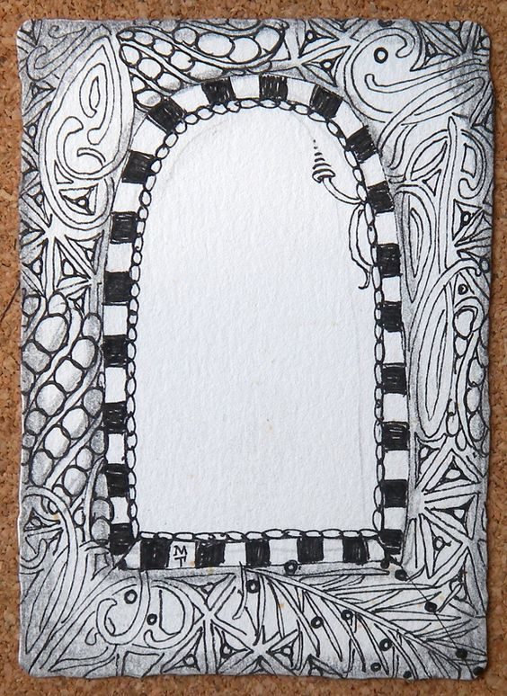 Zentangle So Zentangle Frames Pinterest Arches And