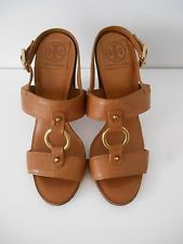 Tory Burch Leather Heeled Sandals - Size 8.5