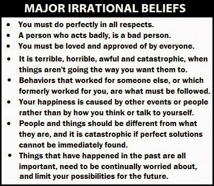 ellis irrational beliefs - Google Search