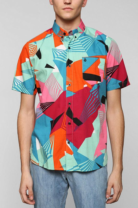 Colorful Button Down Shirts