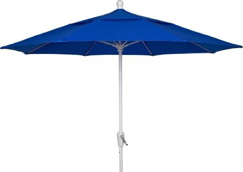 Amazon Com Fiberbuilt Umbrellas Patio Umbrella 9 Foot Pacific Blue Canopy And White Pole Garden Outdo Outdoor Patio Decor Patio Umbrellas Patio Umbrella Patio umbrella with white pole