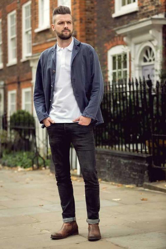 ジャケット&デニム海外メンズコーデRob Jones in London