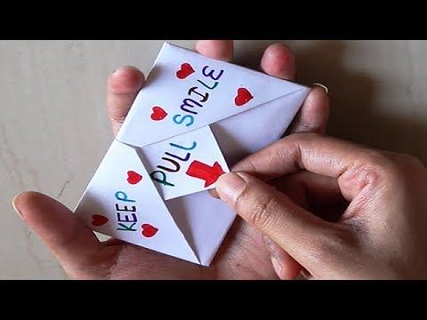Diy Surprise Message Card Pull Tab Origami Envelope Card Letter Folding Origami Youtube Origami Envelope Origami Letter Origami Birthday Card