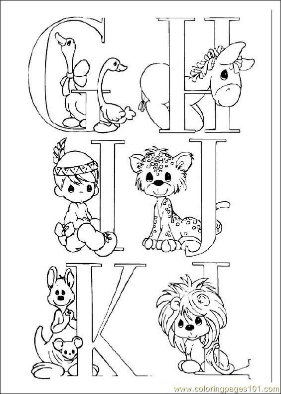Coloring Pages Preciousmoments