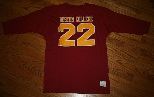 Vintage Champion label Boston College #22 Football Jersey Shirt-Men's L or M-NEW