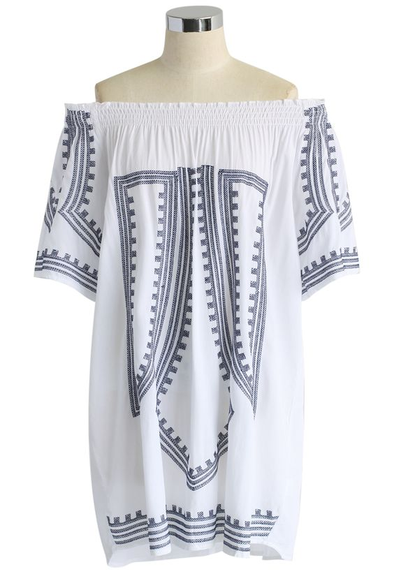 Boho All the Way Tunic in White - Retro, Indie and Unique Fashion