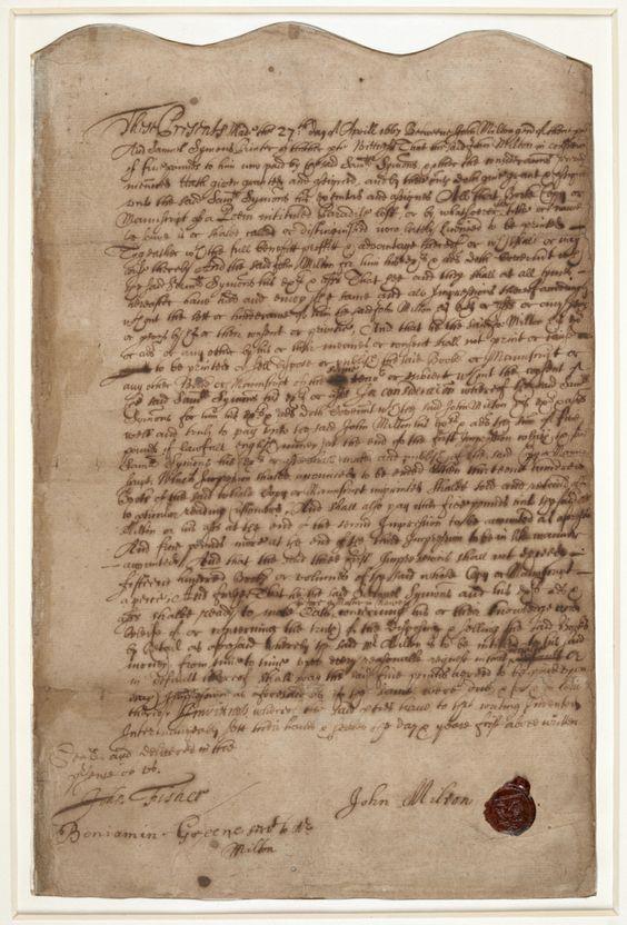 Milton publishing contract