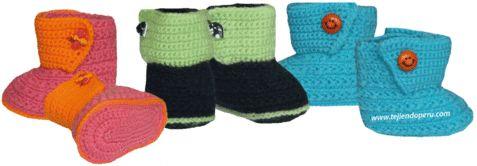 Tutorial: botitas tejidas en crochet
