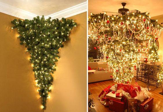 Inspiration de no l le sapin l 39 envers arbres arbres de no l et branches - Sapin suspendu au plafond ...