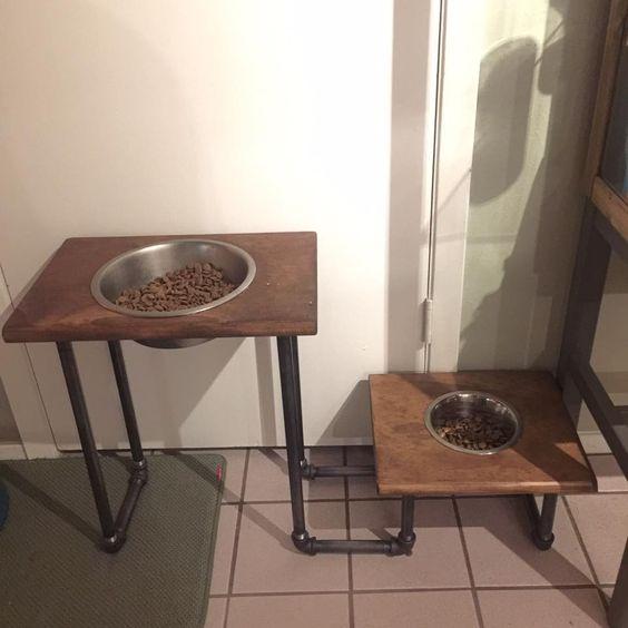 DIY - Great Dane and French Bulldog food bowl riser