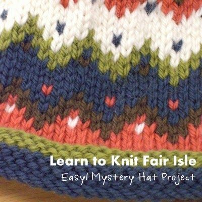 NobleKnits Knitting Blog: Learn Fair Isle Knitting + Knit a Hat ...