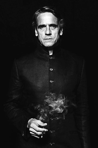 Jeremy Irons, this man does evil in the most incredible way. Voice of Scar in Disney's The Lion King. Male actor, celeb, portrait, photo b/w: