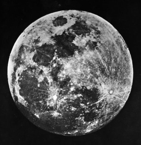 One of the first pictures ever taken of the moon by Dr. J. W. Draper of New York, 1840.