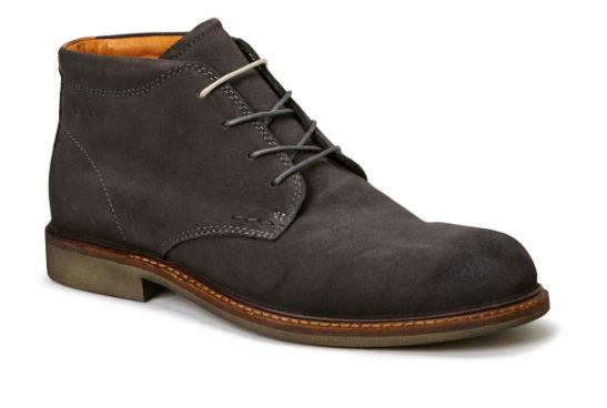 Ecco A/W grey suede lace boot
