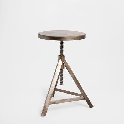 Taburete asiento madera muebles auxiliares decoraci n - Muebles zara home ...