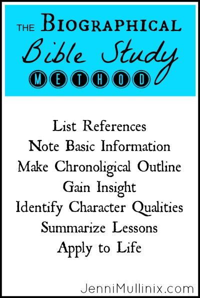 How to Study the Bible Using the Biographical Study Method with Printable