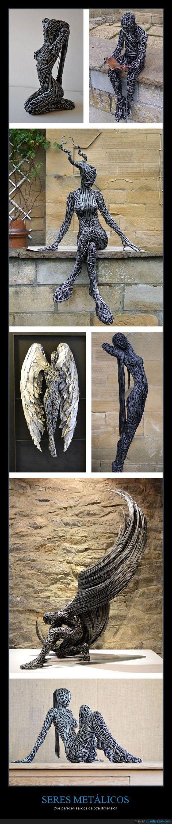 Son esculturas de metal muy intrincadas - Que parecen salidos de otra dimensión   Gracias a http://www.cuantarazon.com/   Si quieres leer la noticia completa visita: http://www.estoy-aburrido.com/son-esculturas-de-metal-muy-intrincadas-que-parecen-salidos-de-otra-dimension/