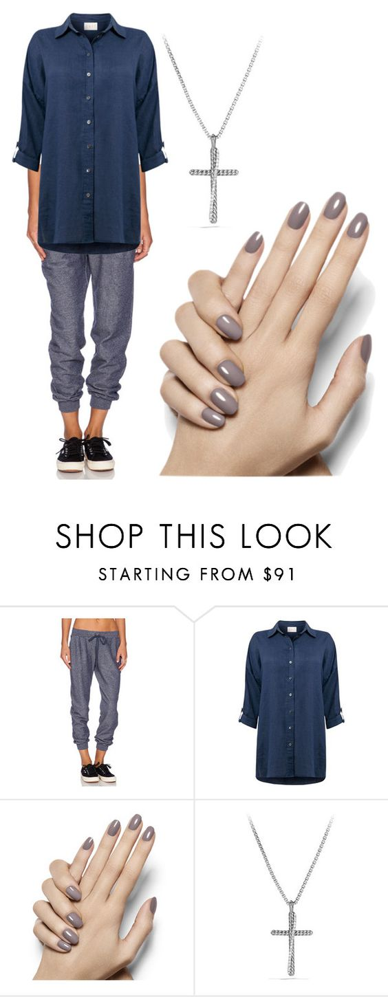 """legah"" by rute-ferreira ❤ liked on Polyvore featuring Soft Joie, EAST, Essie and David Yurman"