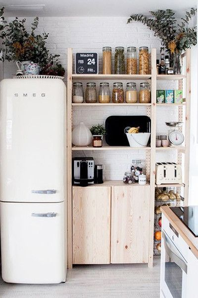 Make It Modular The 25 Best Organization Hacks For Small Spaces On Pinterest Photos Tiny House Kitchen Home Kitchens Kitchen Design