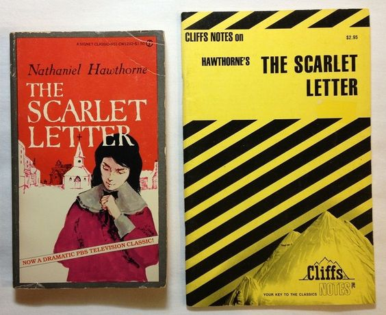 The Scarlet Letter by Nathaniel Hawthorne with Cliffs Notes 1959