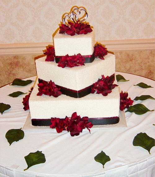Red White and Black Wedding Cakes | black white wedding cake ...