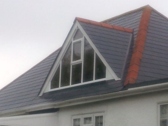 Glass gable ended dormer window for room with high for Gable designs