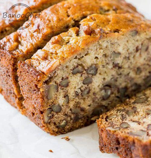 نان موز و گردو بانو شف Recipe Easy Banana Bread Recipe Sour Cream Banana Bread Best Banana Bread