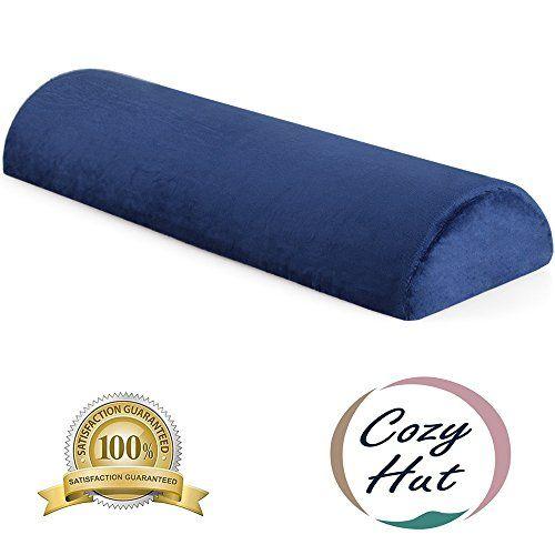 Cozy Hut Memory Foam Semi Roll Pillow Half Moon Bolster Knee Support Pillow For Side Back Stomach Sleepers For Scia Roll Pillow Support Pillows Stomach Sleeper