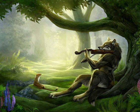 Musical wolf