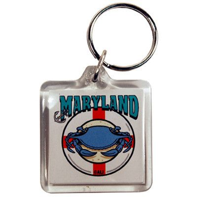 maryland keychain lucite 3 view Case of 96