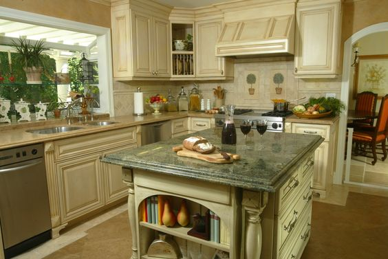 Sensational seafoam green kitchen traditional design ideas for Green country kitchen ideas