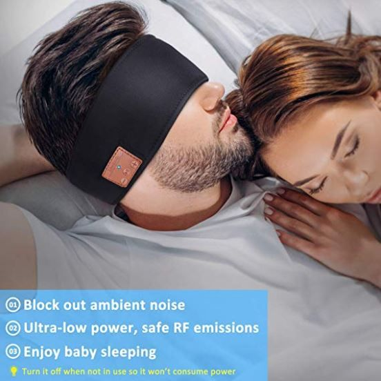 Sleep Headphones Bluetooth Headband In 2020 Sleep Headphones Wireless Music Sports Headbands