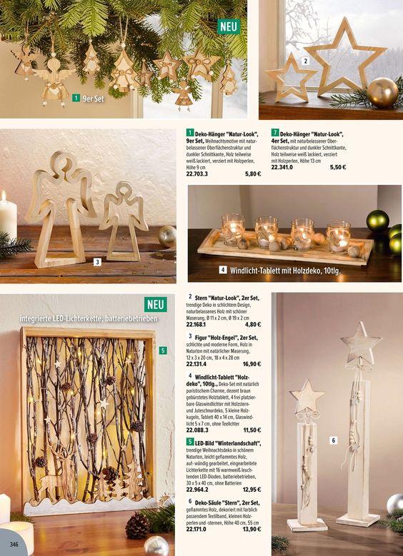 Sterne~Weihnachten~4er Set~ Holz~ Weiß//Natur ~Figuren